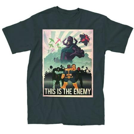 Marvel Villains This Is The Enemy Mens Black T-Shirt | L - Mens Dc Villain