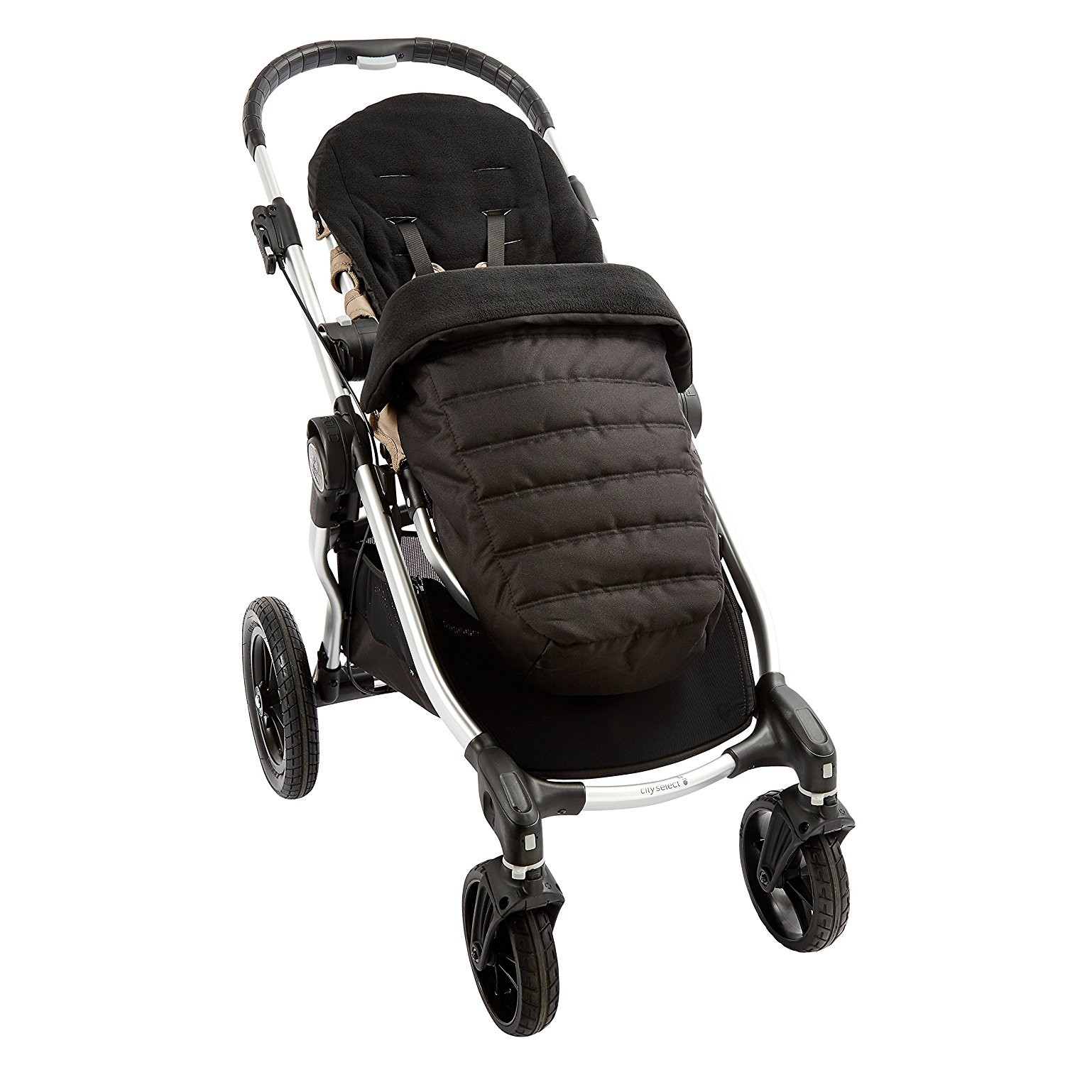 City Select Foot Muff, Onyx, Machine Washable By Baby Jogger