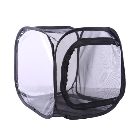Butterfly and Insect Habitat Cage Mesh Terrarium Pop-up - Black S