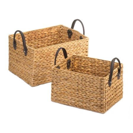 Accent Plus Wicker Storage Baskets Duo](Wicker Storage Basket)