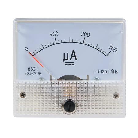 85C1 Analog Current Panel Meter DC 300uA Ammeter Ampere Tester Gauge 1 PCS