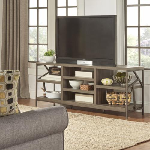 TRIBECCA HOME Lincoln Metal Accent Storage Media Console Sofa Table TV Stand