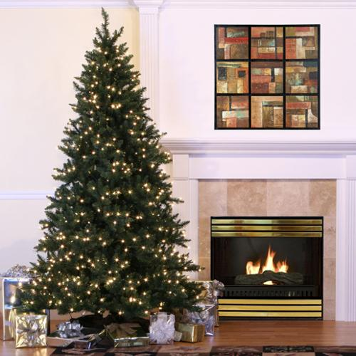 9' LED Lighted Full Camdon Fir Artificial Christmas Tree - Warm White Lights