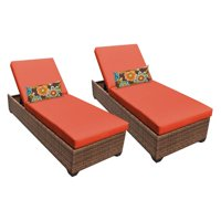 TK Classics Laguna Outdoor Chaise Lounge - Set of 2 Chairs and Cushion Covers