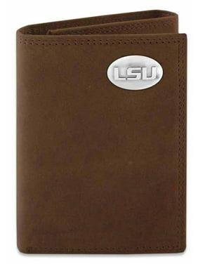 LSU Crazyhorse Leather Trifold Wallet