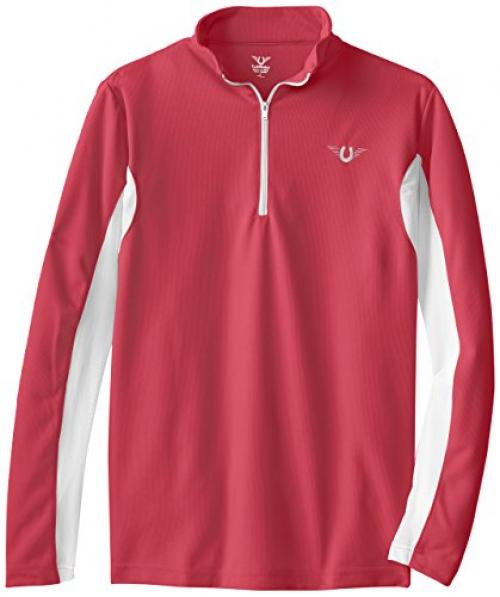 TuffRider Womens Ventilated Technical Long Sleeve Sport Shirt with Mesh