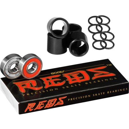 Reds Bearings Including Spacers & Washers, Bestselling skate bearing brand in the USA By Bones Bearings