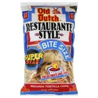 Old Dutch Restaurante Style Super Size Bite Size Premium Tortilla Chips, 20 Oz.