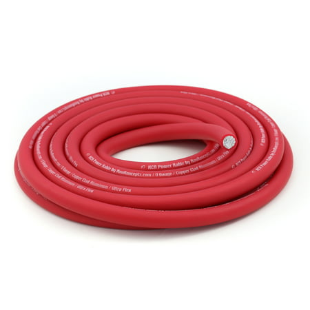 Cci Cables (KnuKonceptz KCA Kable 1/0 Ultra Flex Red CCA Power Wire / Ground Cable )