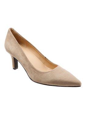 Trotters Women's noelle Dark Nude Ankle-High Leather Pump - 9.5N