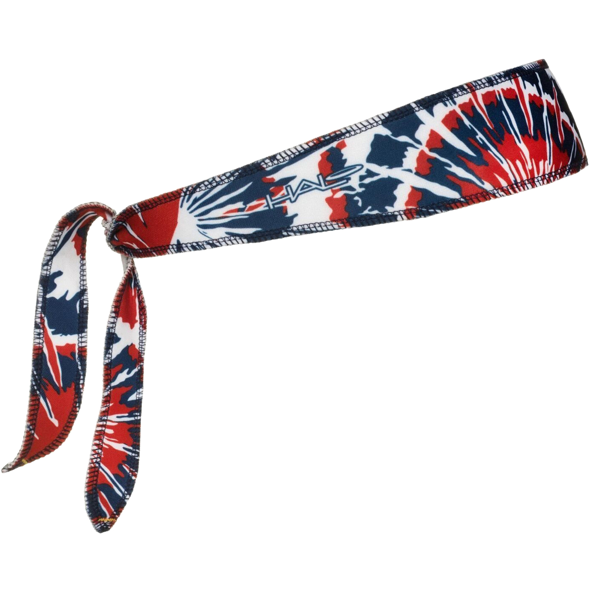 Halo Headband Tie Version I Sweatband - Red/White/Blue Tie-Dye