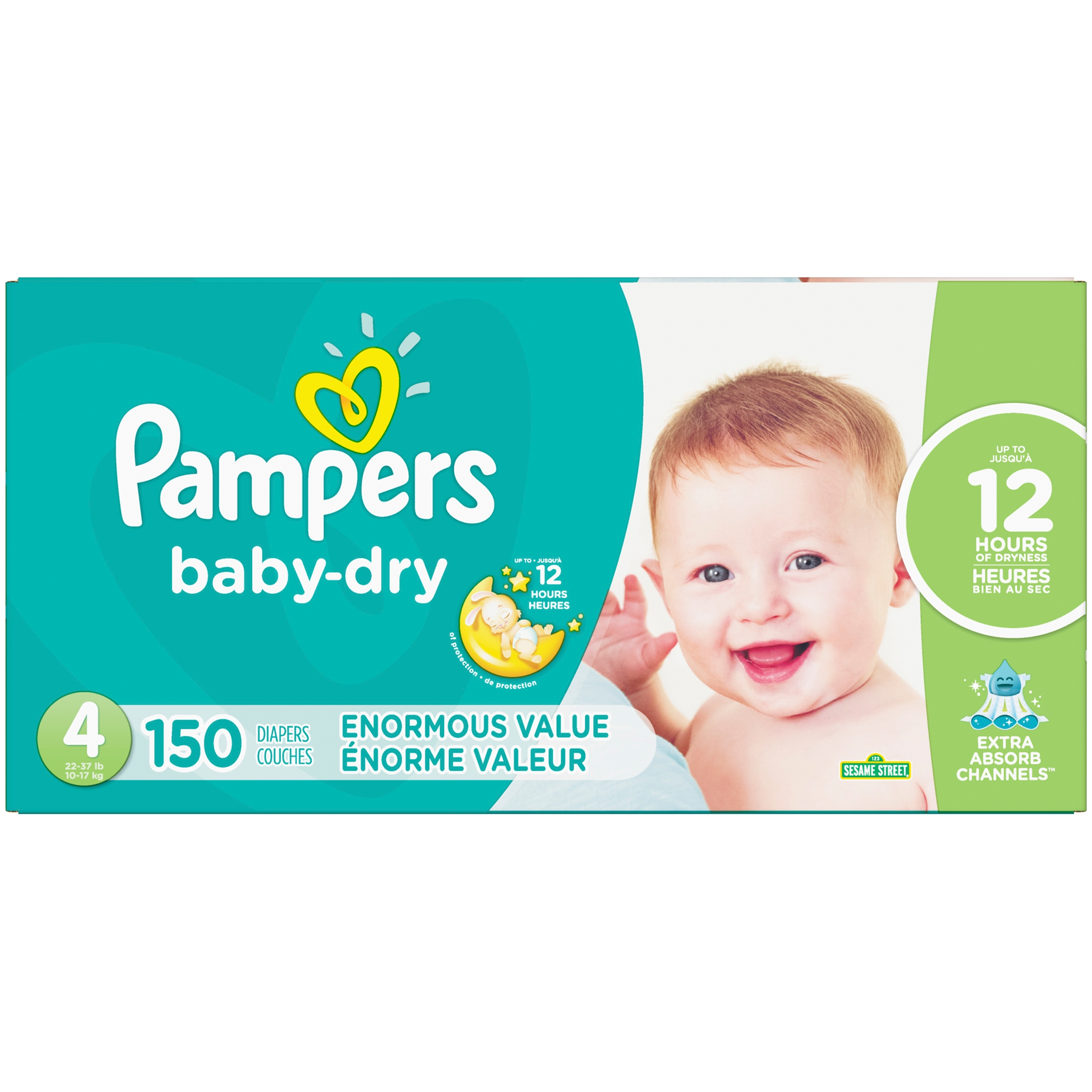 Pampers Baby Dry Diapers Size 4 150 Count