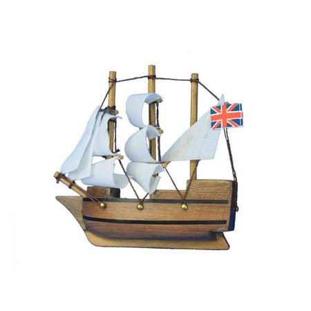 Wooden Mayflower Tall Model Ship Magnet 4