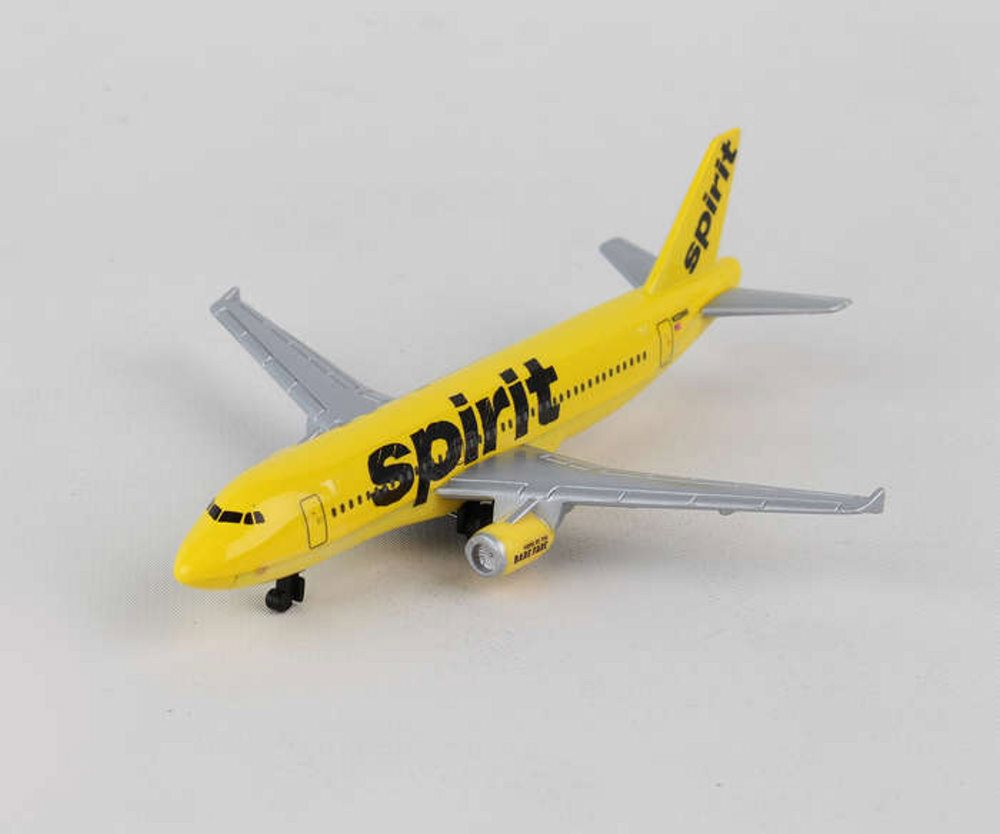 Spirit Airlines Single Airplane, Yellow - Daron RT3874 - Diecast ...
