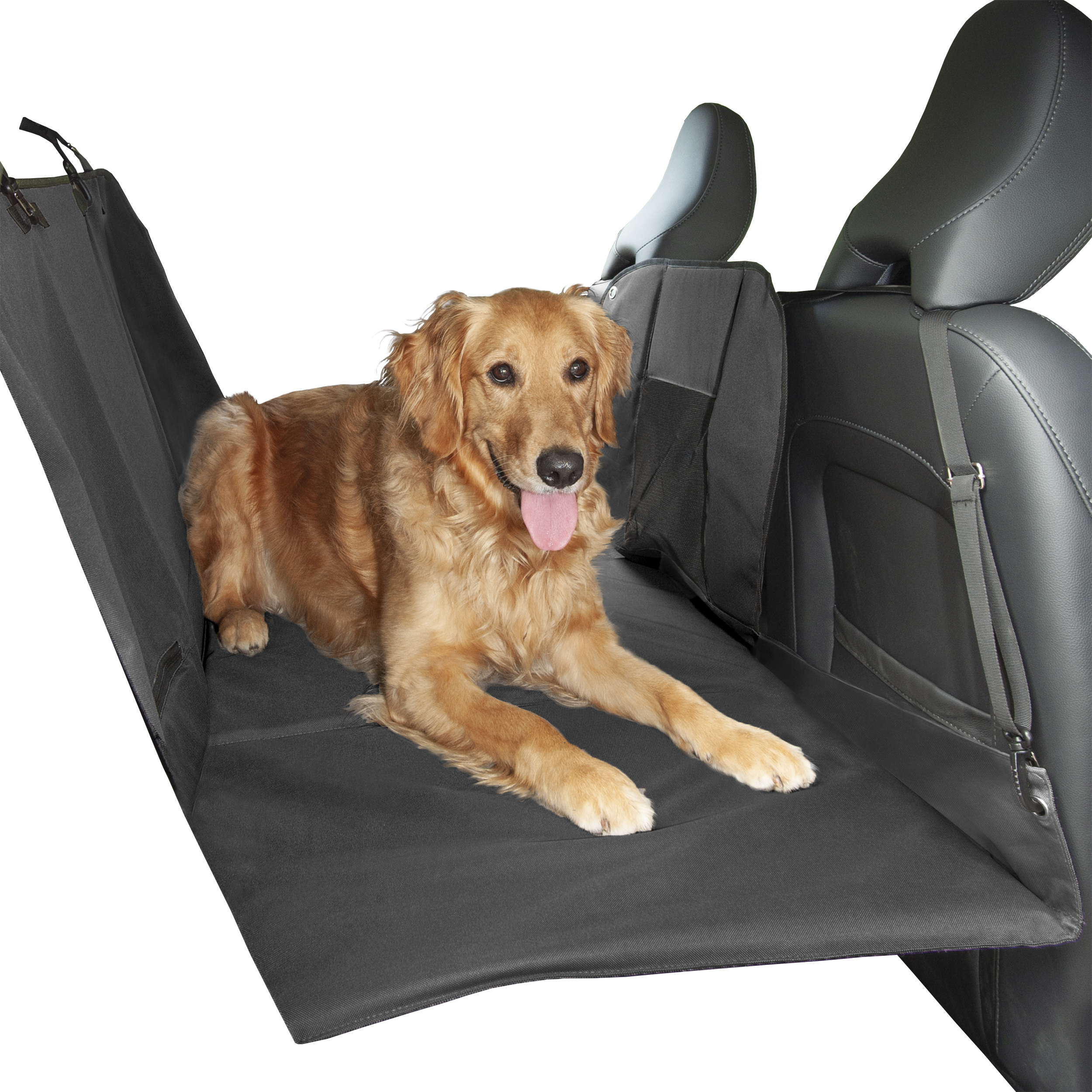 FurHaven Pet Car Seat Cover | Deluxe Hard Base Car Seat Cover, Gray, Hammock