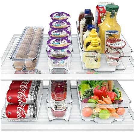 Sorbus Fridge Bins And Freezer Organizer Refrigerator Bins Stackable Storage Containers Bpa Free Drawer Organizers For Refrigerator Freezer And Pantry Storage  6 Pack Set
