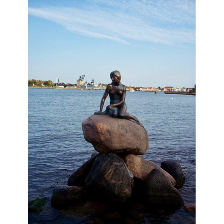 LAMINATED POSTER Tourist Attraction Little Mermaid Denmark Copenhagen Poster Print 24 x 36
