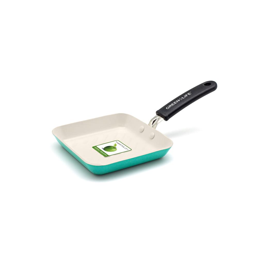 GreenLife Ceramic Non-Stick Mini Square Grill Pan by Generic