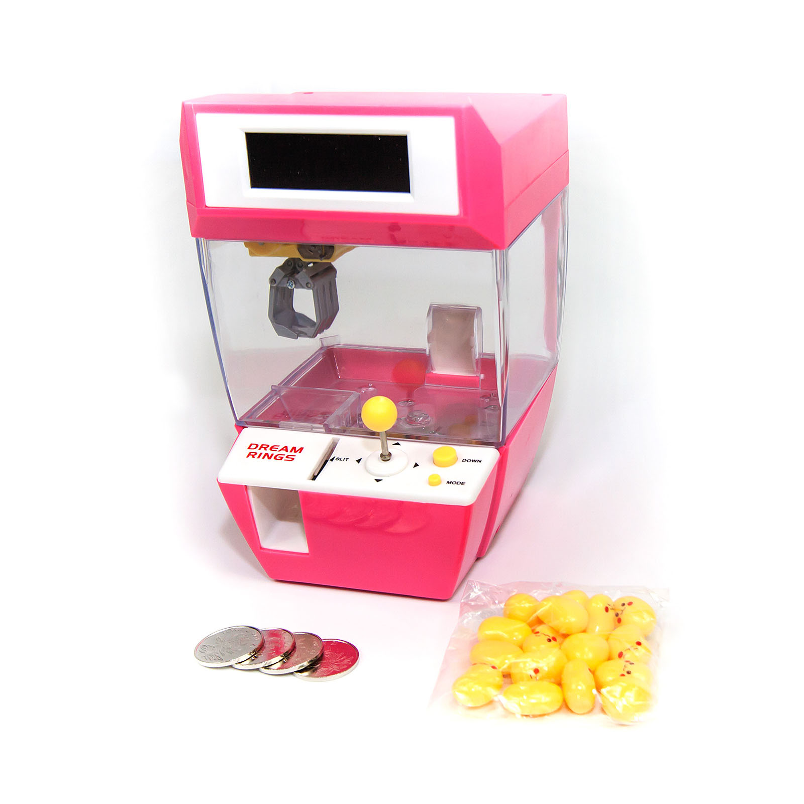 Candy Claw Machine Alarm Clock Sound Music Fun Gadget Electronic Kid Party LCD Turquoise