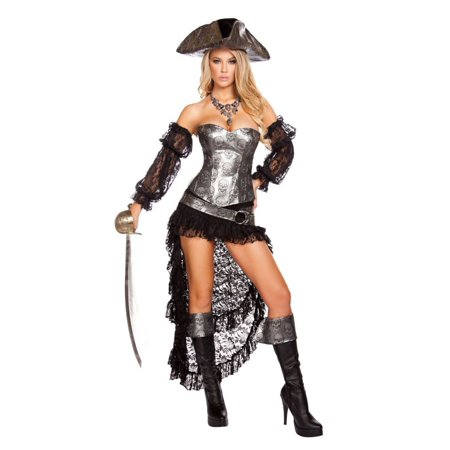 Women's Sexy Deadly Pirate Captain (Women's Sexy Captain's Wench Costumes)