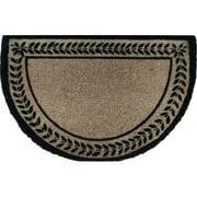A1 Home Collections LLC Leaf Border Decorative Doormat