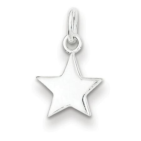 Star Charm (Sterling Silver Star Charm)