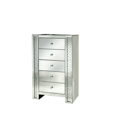 Acme Furniture Nysa Chest of Drawers, Mirrored ()