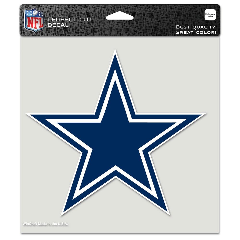 Dallas Cowboys Official NFL 8 inch x 8 inch  Die Cut Car Decal by Wincraft