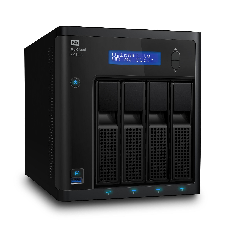 WD 16TB My Cloud EX4100 Expert Series 4-Bay Network Attached Storage - NAS - WDBWZE0160KBK-NESN