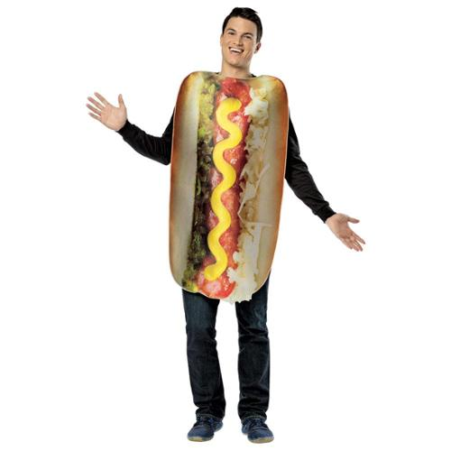 Mens Get Real Hot Dog Food Hallowen Costume