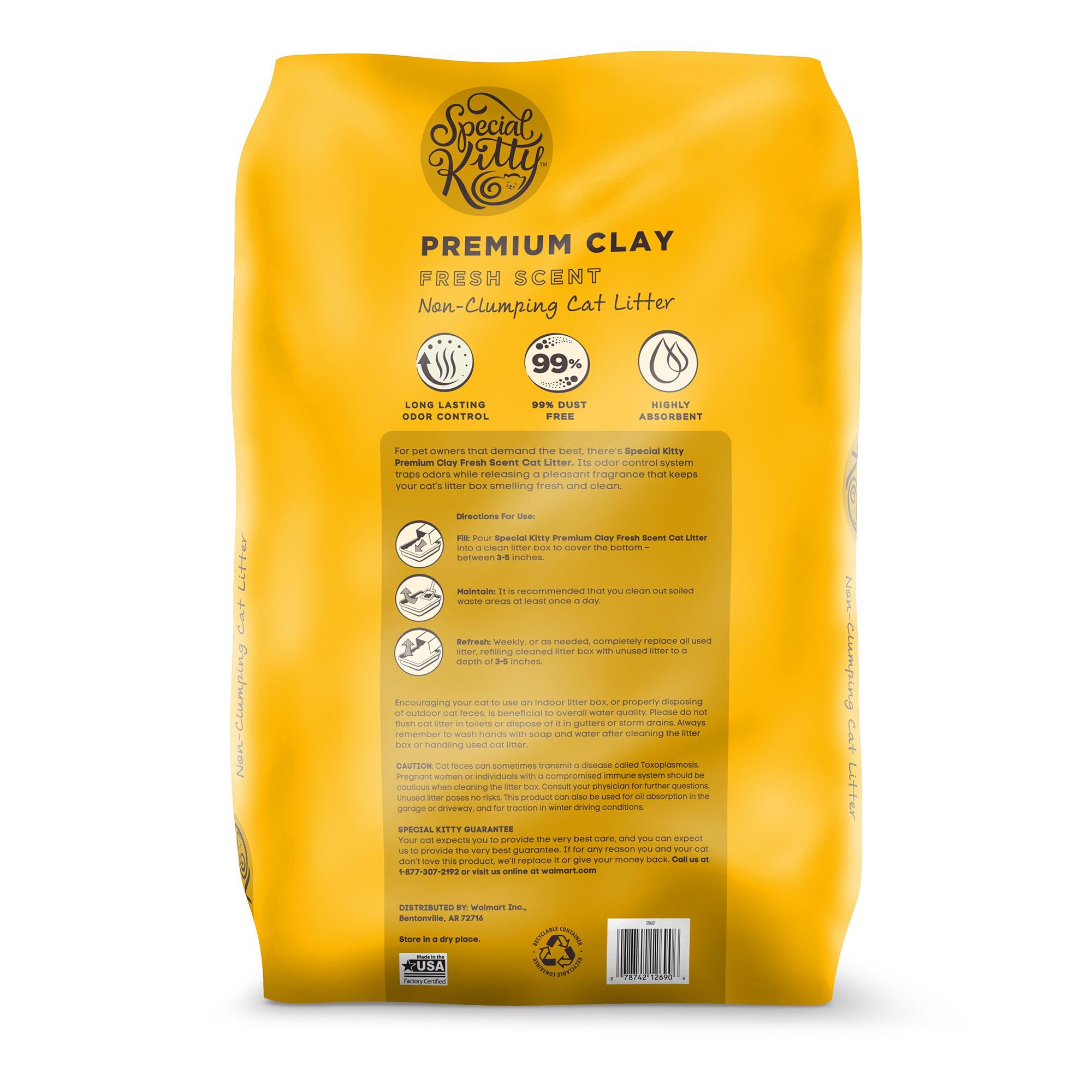 Special Kitty Premium Clay Cat Litter, Fresh Scent, 25 lb