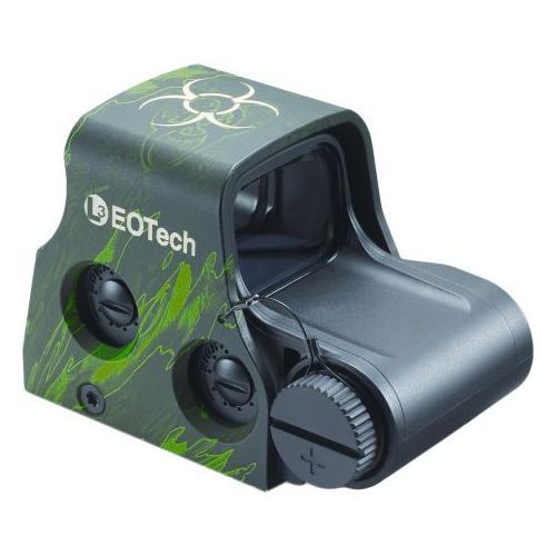 108805 EOTech XPS2-Z2 Zombie 2 HWS, Biohazard 65 MOA Ring & 1 MOA Dot