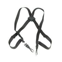 Op/Tech USA Bino/Cam Suspender Harness Binocular/Camera Strap - Webbing Version - Black