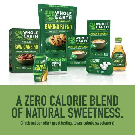 80 Packets) Whole Earth Stevia & Monk Fruit Zero Calorie Erythritol