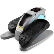 Desk Elliptical with Built in Display Monitor, Quiet & Compact, Electric Elliptical Machine Trainer