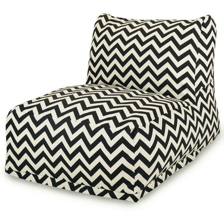 Outdoor Bean Bag Lounger - Majestic Home Goods Indoor Outdoor Black Chevron Chair Lounger Bean Bag 36 in L x 27 in W x 24 in H