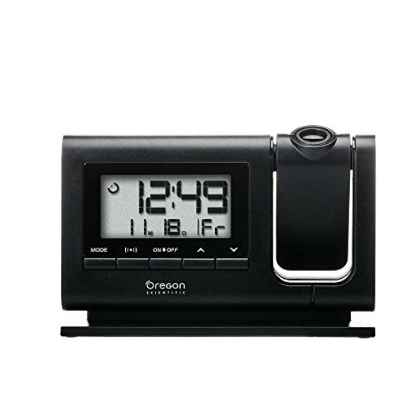 Black Oregon Scientific RM308PA Classic Projection Clock with Atomic Time Calendar Date