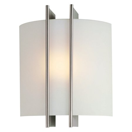 Lite Source Checks Sconce, Frosted/Polished Steel
