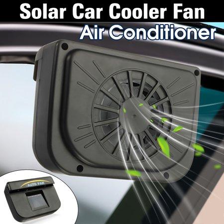 Solar Power Car Window Fan Auto Air Vent Cool Fan Cooler