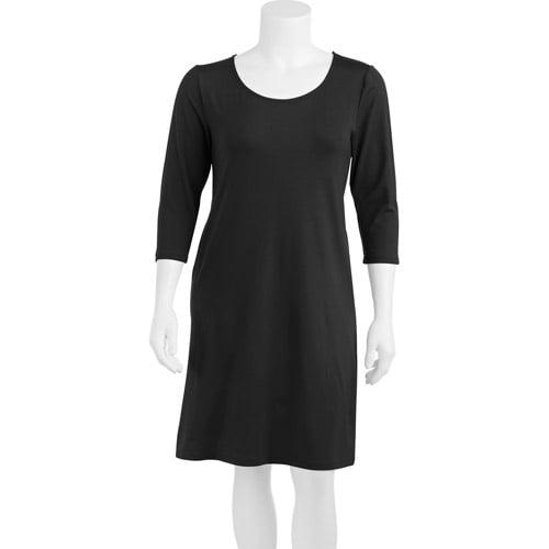 Smart & Sexy Women's Plus-Size Slimming 3/4 Sleeve Dress