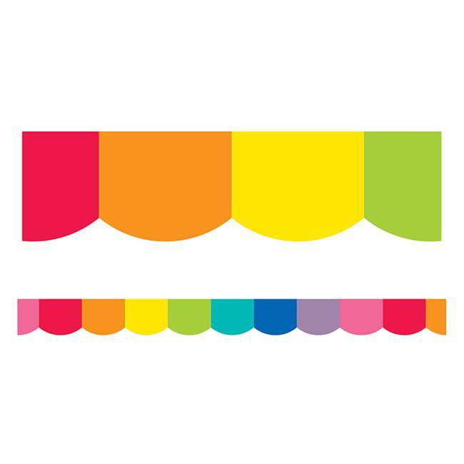 Carson Dellosa CD-108360 Rainbow Scalloped Borders - image 1 of 1