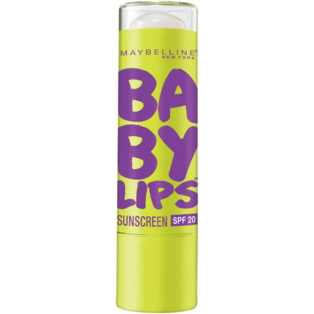 Maybelline New York Baby Lips Moisturizing Lip Balm, Peppermint, 0.15 oz