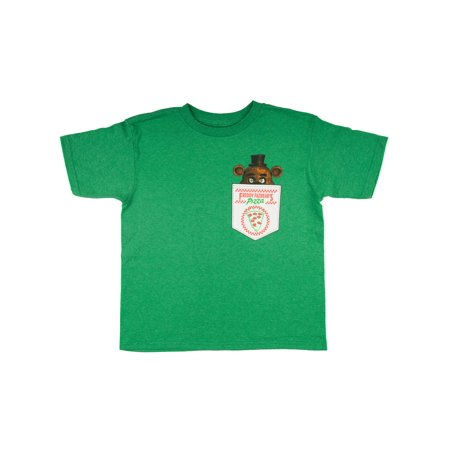 Five Nights at Freddy's Heather Green Faux Pocket Short Sleeve Tee (Little Boys & Big Boys)