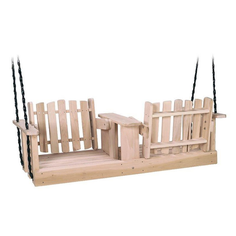 Beecham Swing Co. Flip-Ware 5 ft. Wood Porch Swing by Porch Swings