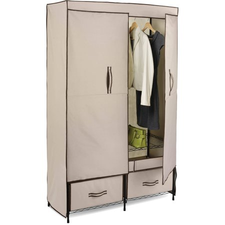 Star Rocket 2 Door Storage (Honey Can Do Double-Door Closet Storage with Two Drawers,)