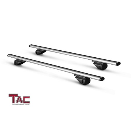 "TAC Roof Rack Cross Bar Aluminum Locking Roof Top Cargo Rack Anti-Theft Cross Bars (45"" Cross Bars, 1 Pair) ()"