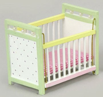 Dollhouse Multicolor Baby Crib