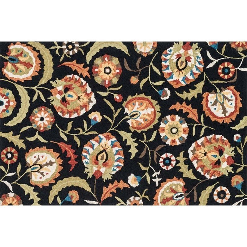 "Loloi Francesca 2'3"" x 3'9"" Rug in Black"