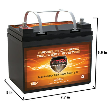 VMAX V35-857 AGM Deep Cycle Battery Replaces EXIDE GT-H GROUP U1 12V