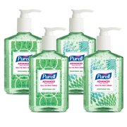 (Pack of 4) PURELL Advanced Hand Sanitizer Soothing Gel Design Series with Aloe and Vitamin E, 8 Oz Pump